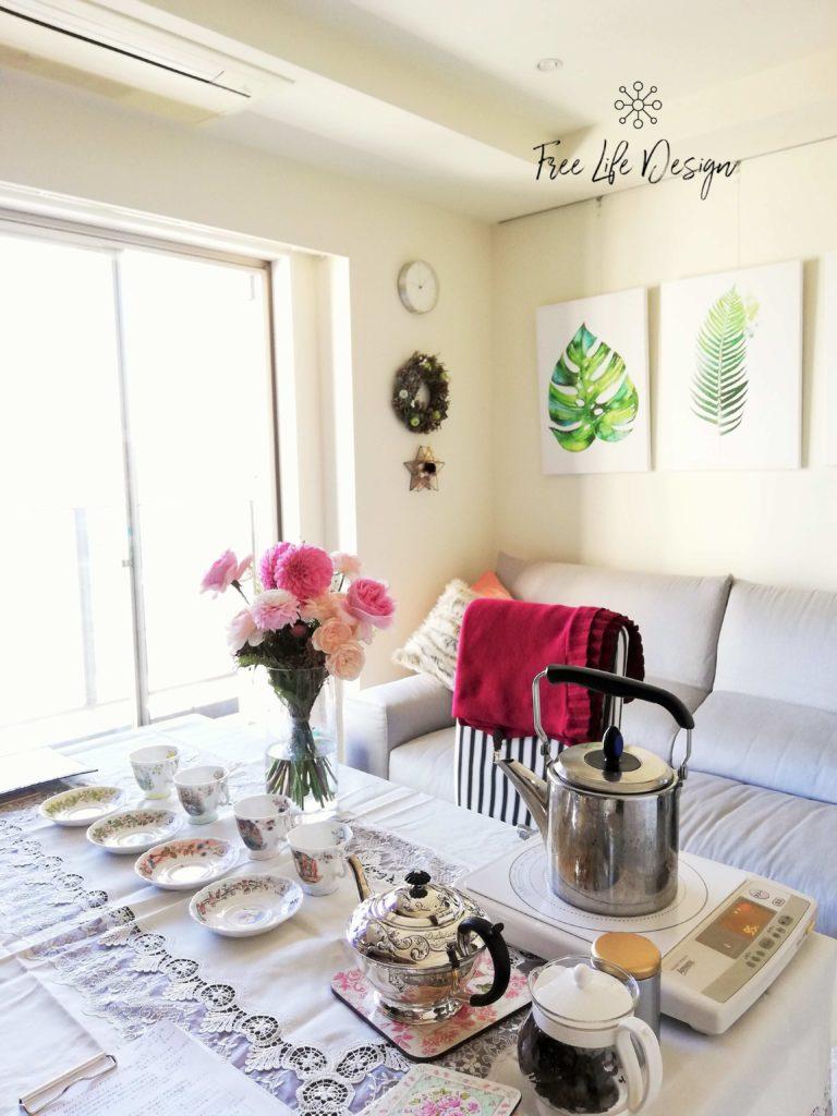 アロマ空間実例紅茶教室